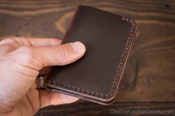 6 Pocket Vertical Wallet, Horween Chromexcel leather - brown