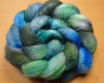 Fjords - BFL top in blue, green and grey