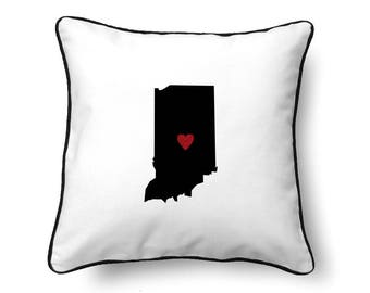Indiana Pillow - Indiana Gift - Indiana Map - IN State Map