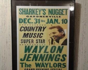 Waylon Jennings Concert Poster Print Retro Vintage Country Music Wall Art Decor The Waylors