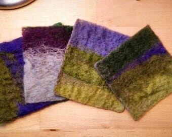 Set of Four Felted Wool Coasters