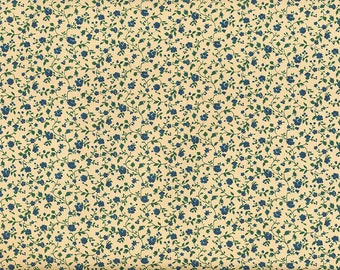 Blue - floral wrapping paper from Italy
