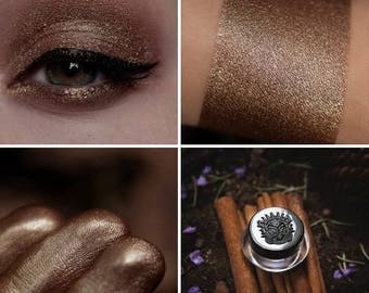 Eyeshadow: Going by My Own Way - Druidess. Brown soft satin eyeshadow by SIGIL inspired.