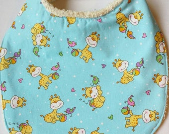 Sweet Baby Bib - Blue Cotton and Terrycloth
