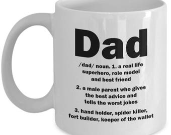 Dad Definition Mug Father's Day Funny Father Gift Birthday Coffee Cup