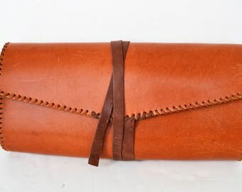 Women Clutch Leather Clutch Leather Brown Clutch Bag