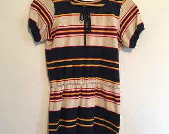 Vintage 70's Striped Dress s/m