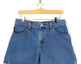 ON SALE Vintage LEVI'S 550 Blue Denim Shorts from 90's/W29*