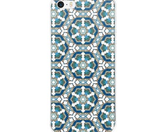 Mosaic iPhone Case - blue phone case - patterned phone case - custom phone case - unique phone case