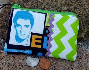 Coin Purse, Nostalgic Change Wallet, Ear Bud Pouch, Guitar Change Purse