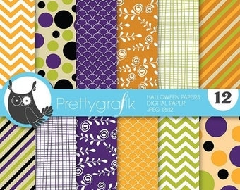 80% OFF SALE Halloween digital paper, commercial use, scrapbook papers, background  - PS641
