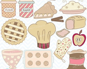 80% OFF SALE Bake sale clipart commercial use, vector graphics, digital clip art, digital images  - CL310