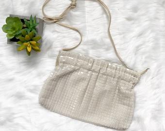 Vintage 80's Lumured Beaded Sequin Evening Bag Purse
