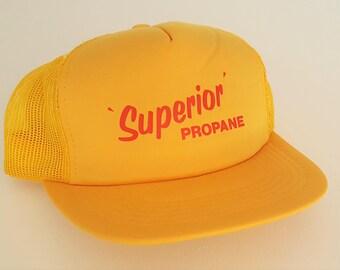 Vintage Superior Propane Snapback Hat VTG