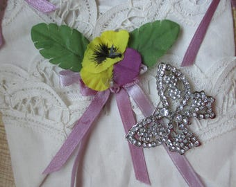 Vintage and Retro  Rhinetone Butterfly brooch/pin - Estate find!