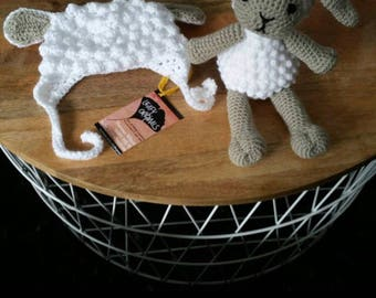 Crochet Lamb stuffed Toy, made to order in any colour. Amigurumi