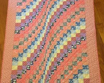 30's bargello baby quilt
