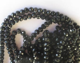 16 flat and round glass beads Black 10 mm (13)