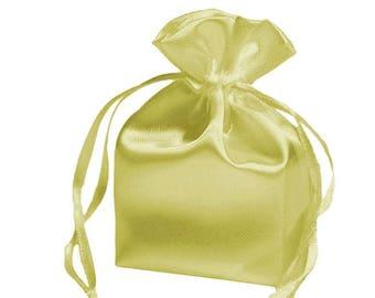Large Yellow Satin Gift Bag