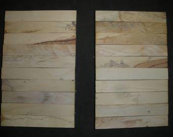 20  BEECHNUT WOOD Turning Wood Pen  Razor Blanks #B3