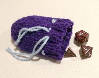 Simple Handknit Dice Bag