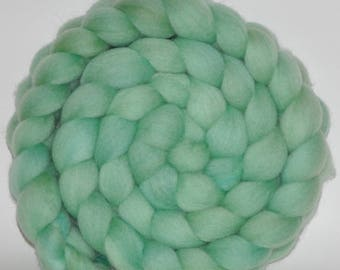Blue Face Leicester   Hand Painted Roving  5.15 ounces -  Starting Over   combed top