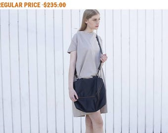 Sale, Leather Purse with Zipper, Leather Bag, Leather Handbag In Black, Over The Shoulder Leather Bag