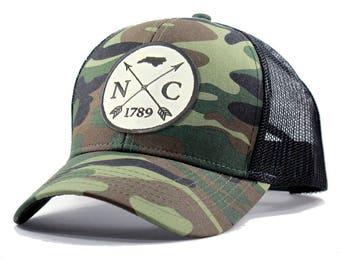 Homeland Tees North Carolina Arrow Hat - Army Camo Trucker