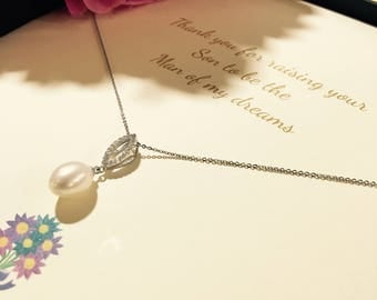 Mother of the Groom Gift Pearl Necklace