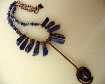 Ethnic Necklace blue temptation