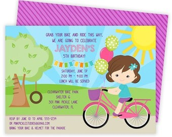 Bicycle Invitation, Bicycle Party, Bicycle Birthday, Bicycle Invitations, Bicycle Invite, Bike Invitation, Bike Party, Bike Birthday   301