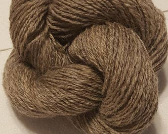 Handspun yarn- Natural Oatmeal Romney - N-plied - 182yds - 3.9oz