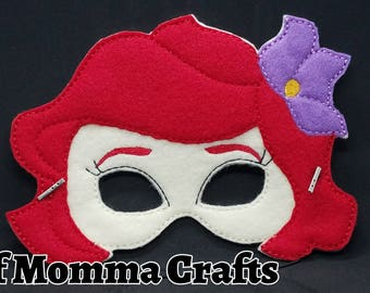 Underwater Princess Childs Felt Mask