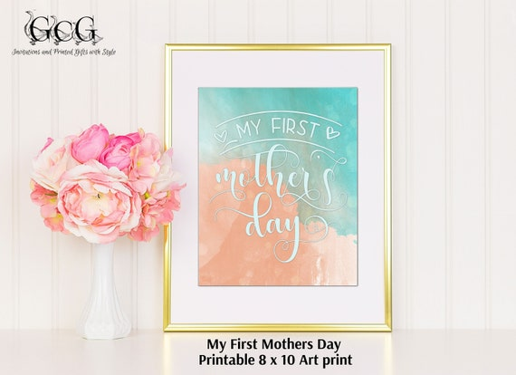my first mothers day art print 1st mothers day gift mothers day