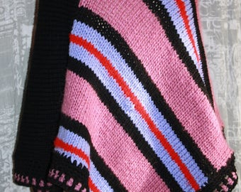 old pink, purple and black poncho 36/40