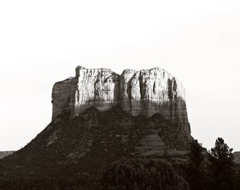 Desert photography, black and white photography, arizona photography, sedona arizona, desert decor, minimalist print, minimalist art,