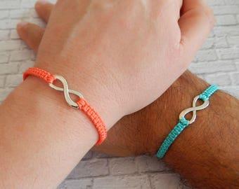 Infinity Couples bracelets - Best Friends Infinity Bracelets - Economy Set of 2 bracelets