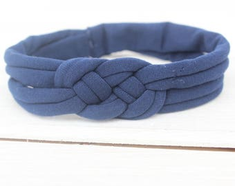 Baby Headband, Knot Headband, knot headband baby, top knot headband,  Baby Headband, navy blue Headband, Braid Headband, Infant Headbands