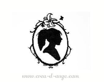 Miss silhouette - Cross stitch pattern