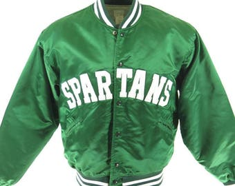 Vintage 70s Michigan State Spartans Jacket XL Felco Union Made College [H43H_1-10]