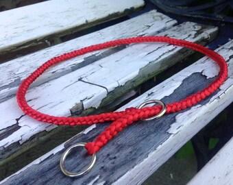 Choke dog collar