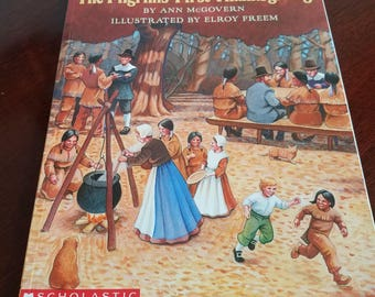 The Pilgrims' First Thanksgiving Vintage Book