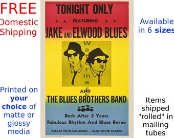 Blues Brothers - Palace Hotel Ballroom - Digitally Restored & Retouched Poster from the Movie (264462153)