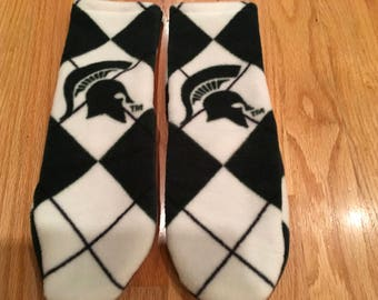 Michigan State slipper socks