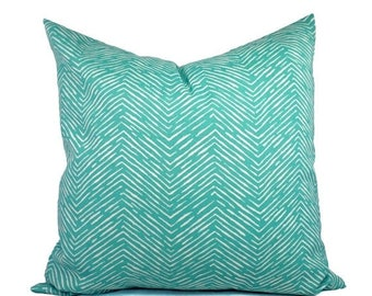 15% OFF SALE Two Indoor Outdoor Pillow Covers - Aqua Pillow - Teal Pillow Covers - Patio Pillow - 12 x 16 Inch Pillow - 14 inch Pillow - 24