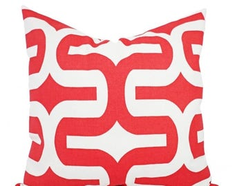 15 off sale two coral bed pillows coral pillow covers geometric pillows