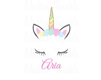personalized unicorn birthday digital image for t shirt printable iron on transfer