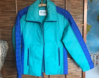 Vintage 70's Stowe colorblock ski jacket made in USA