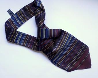 Vintage silk Ascot tie Made in Italy Cravat Ties