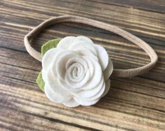 felt flower headband  - nylon band